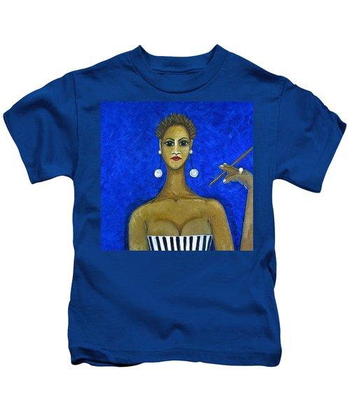 Smoking Woman 2 Kids T-Shirt