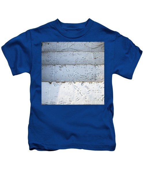 Snow Bird Tracks Kids T-Shirt