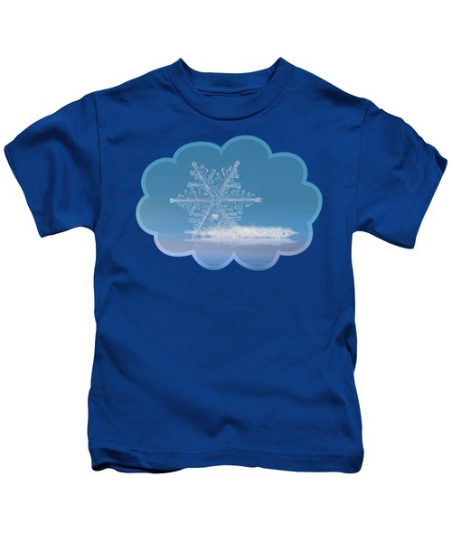 Snowflake Photo - Cloud Number Nine Kids T-Shirt