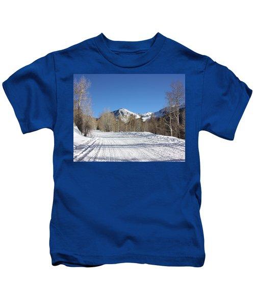 Snowy Aspen Kids T-Shirt