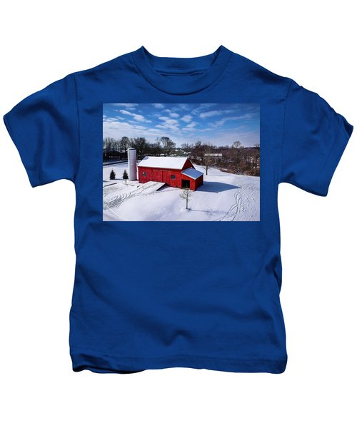 Snowy Barn Kids T-Shirt