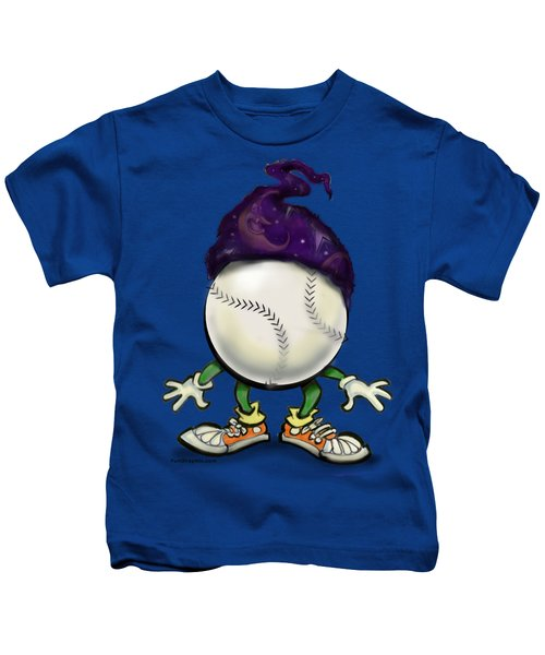 Softball Wizard Kids T-Shirt by Kevin Middleton