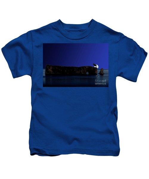 Solar Eclipse Over Perce Rock Kids T-Shirt
