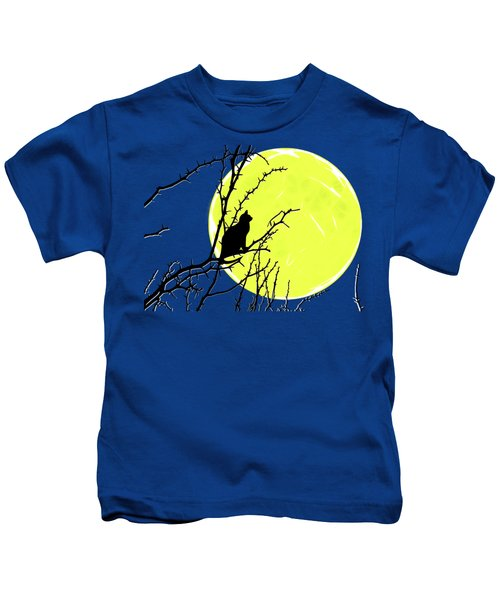 Solitary With Golden Moon Kids T-Shirt