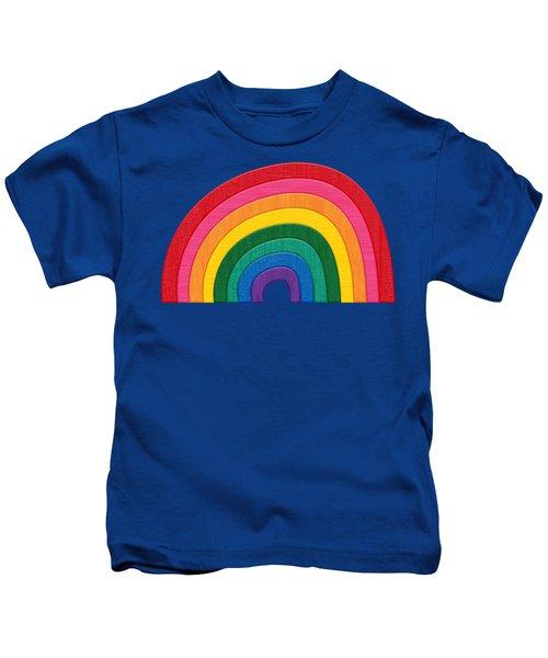 Somewhere Over The Rainbow Kids T-Shirt by Pristine Cartera Turkus