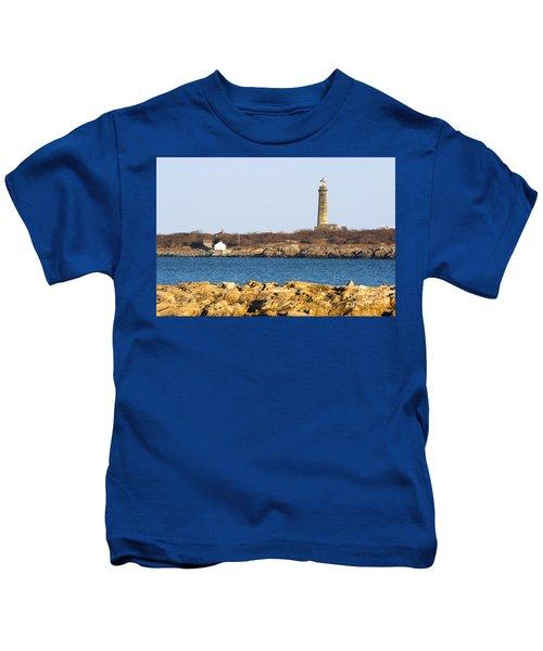 South Tower-thatcher Island Kids T-Shirt