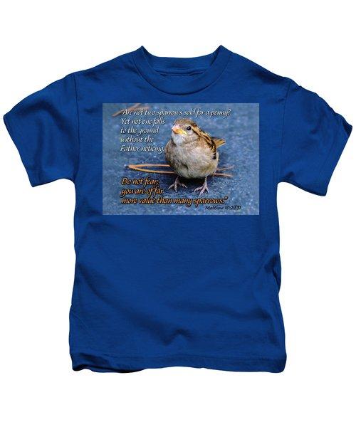 Sparrow Scripture Matthew 10 Kids T-Shirt