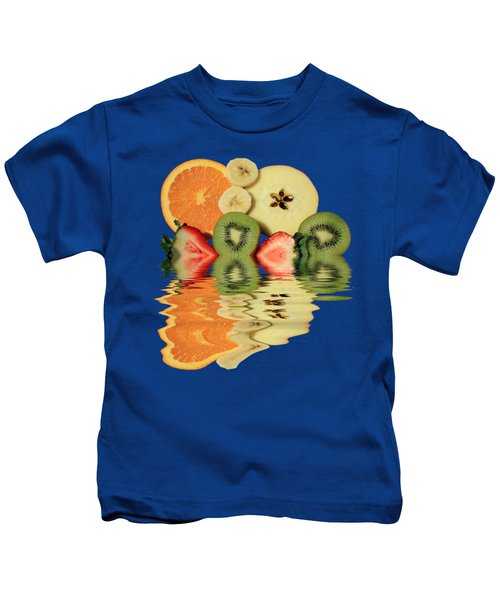 Split Reflections Kids T-Shirt by Shane Bechler