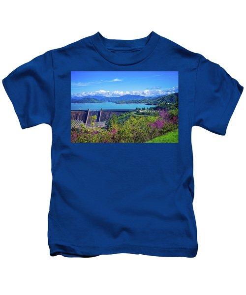 Springtime At Shasta Lake Dam Kids T-Shirt