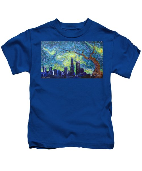 Starry Night Over The Queen City Kids T-Shirt
