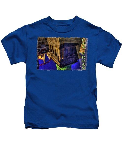 Statue Of Liberty Las Vegas Reflections Kids T-Shirt by Roger Passman