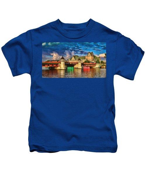 Stettin Bridge - Pol890431 Kids T-Shirt