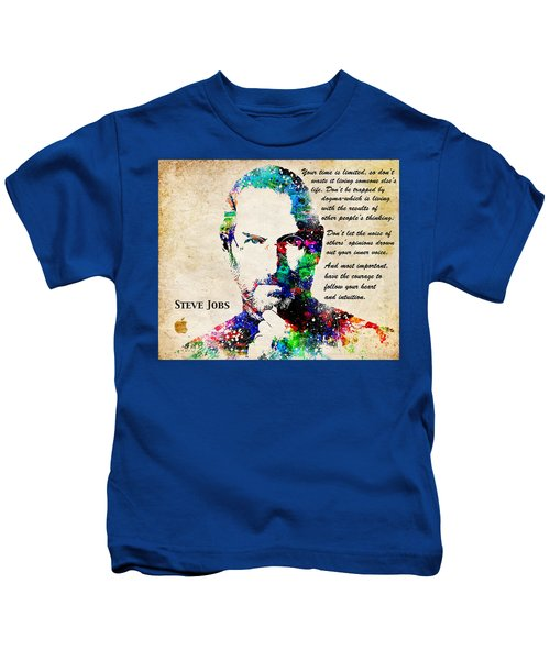 Steve Jobs Portrait Kids T-Shirt