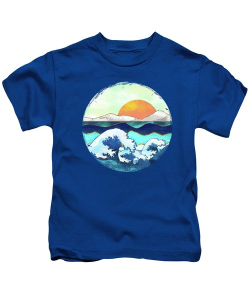 Stormy Waters Kids T-Shirt by Spacefrog Designs