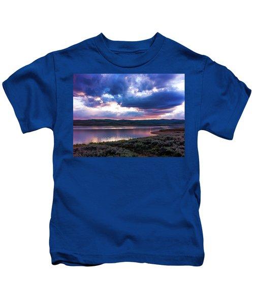 Strawberry Sunset Kids T-Shirt