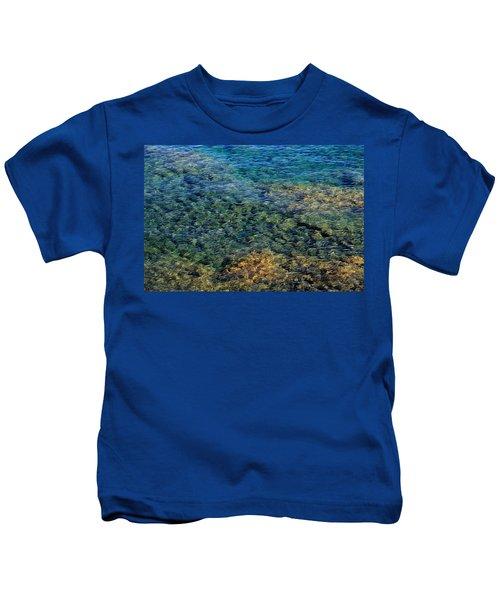Submerged Rocks At Lake Superior Kids T-Shirt