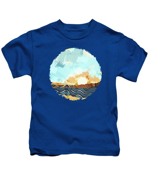 Summer Beach Sunset Kids T-Shirt