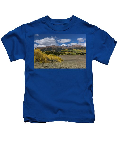 Summer Falls Into Autumn - Mt. Elbert, Colorado Kids T-Shirt