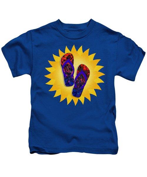 Summer Sunshine And Red Flip-flops     Kids T-Shirt