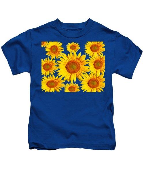 Sunflower Circle Kids T-Shirt