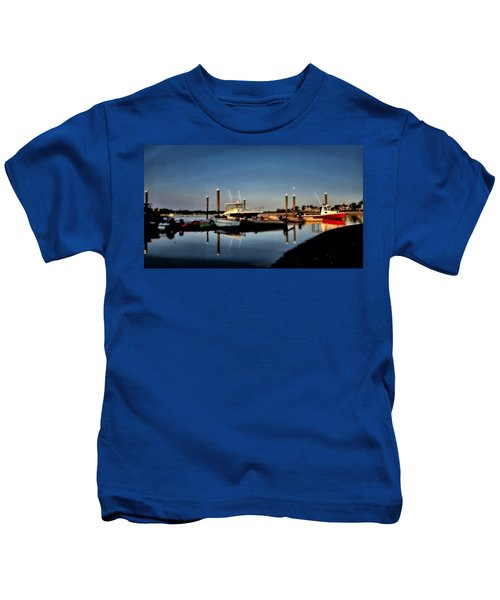 Sunny Morning At Onset Pier Kids T-Shirt