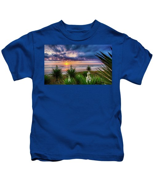 Sunrise Blooms Kids T-Shirt