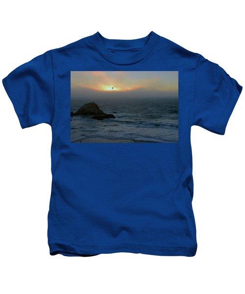 Sunset With The Bird Kids T-Shirt