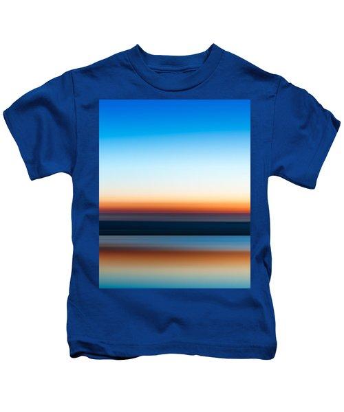 Sunset At Ottawa Lake Kids T-Shirt