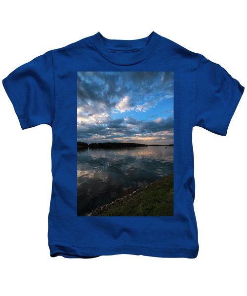 Sunset On The River Kids T-Shirt