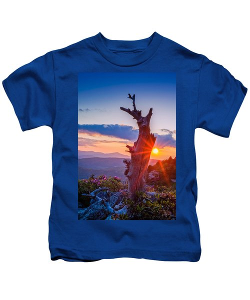 Sunset Tree Kids T-Shirt