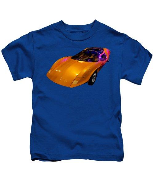Super Car Orange Art Kids T-Shirt