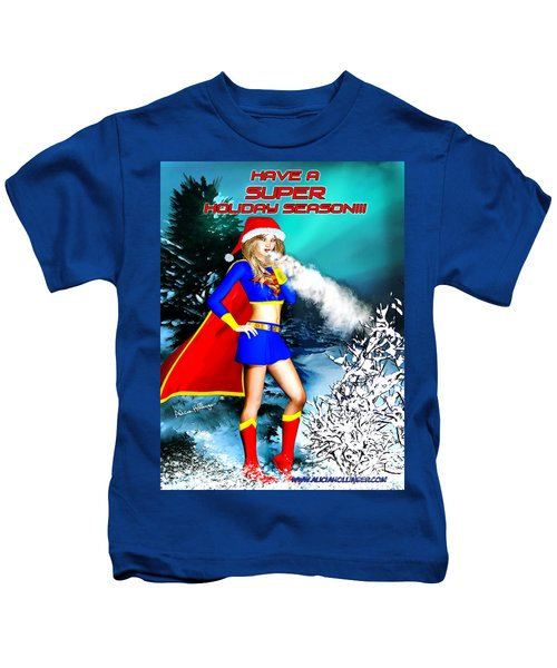 Supergirl Holiday Greeting Card Kids T-Shirt