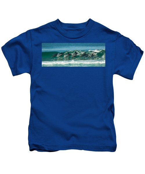 Surfing Dolphins 4 Kids T-Shirt