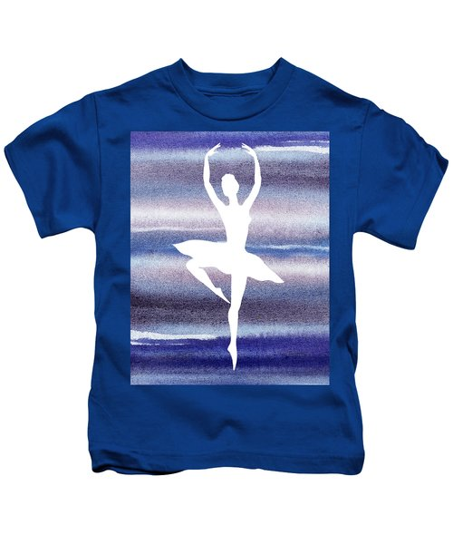 Swan Lake Dance Ballerina Kids T-Shirt