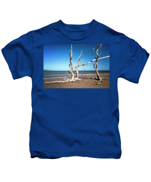 Swingin' At Low Tide Kids T-Shirt