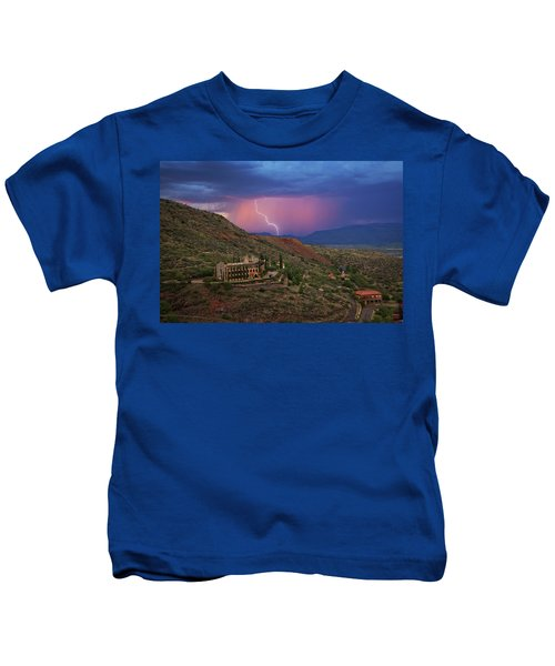 Sycamore Canyon Lightning With Little Daisy Kids T-Shirt