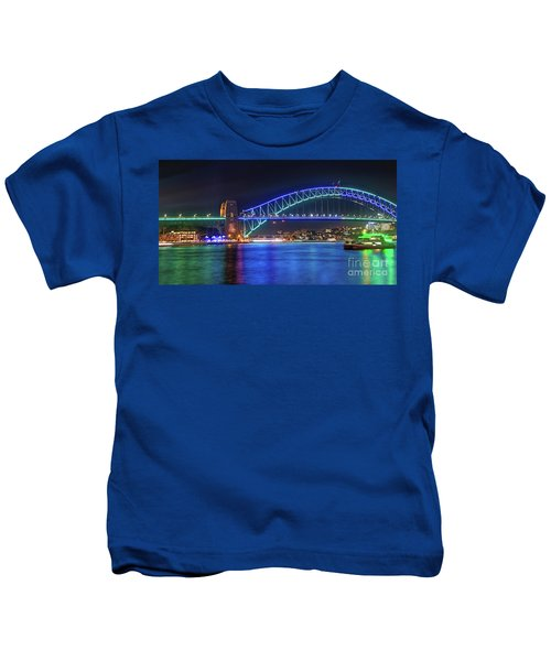Sydney Harbour Green And Blue By Kaye Menner Kids T-Shirt