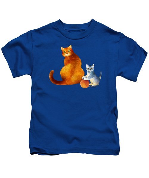 Tabby Cat And Kitten Kids T-Shirt