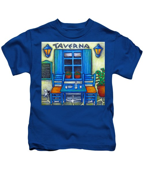 Table For Two In Greece Kids T-Shirt