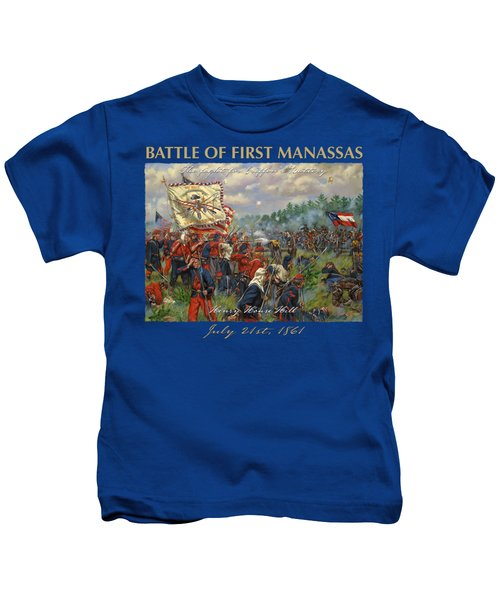 Taking Griffin's Battery - 11th New York Fire Zouaves And 14th Brooklyn - Battle Of First Manassas Kids T-Shirt