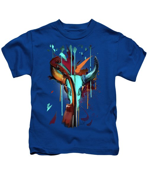 Taurus Kids T-Shirt by Melanie D