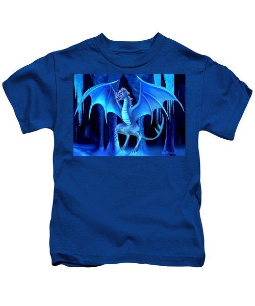 The Blue Ice Dragon Kids T-Shirt by Glenn Holbrook