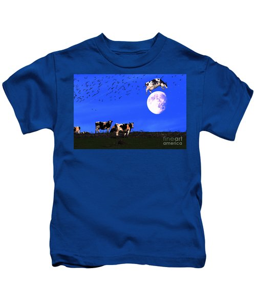 The Cow Jumped Over The Moon Kids T-Shirt