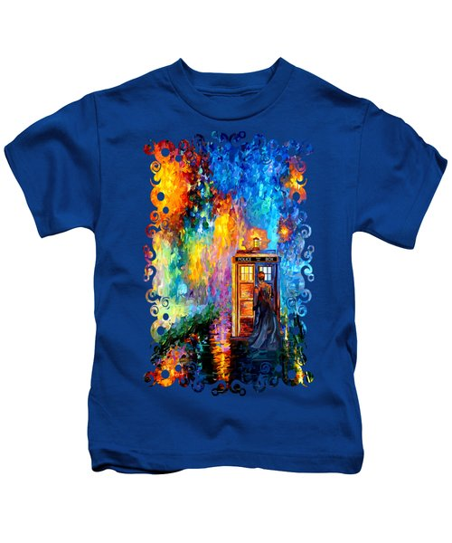 The Doctor Lost In Strange Town Kids T-Shirt by Three Second