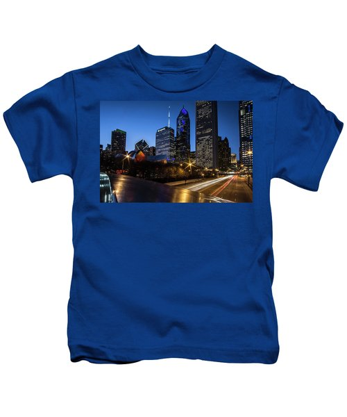 The East Side Skyline Of Chicago  Kids T-Shirt