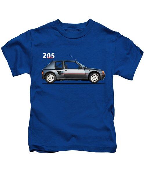 The Peugeot 205 Turbo Kids T-Shirt by Mark Rogan