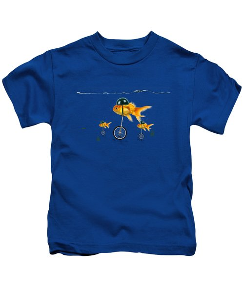The Race  Kids T-Shirt by Mark Ashkenazi