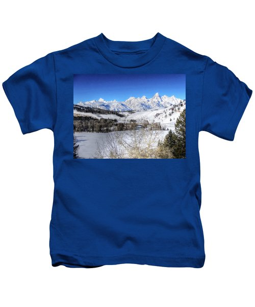 The Tetons From Gros Ventre Valley Kids T-Shirt
