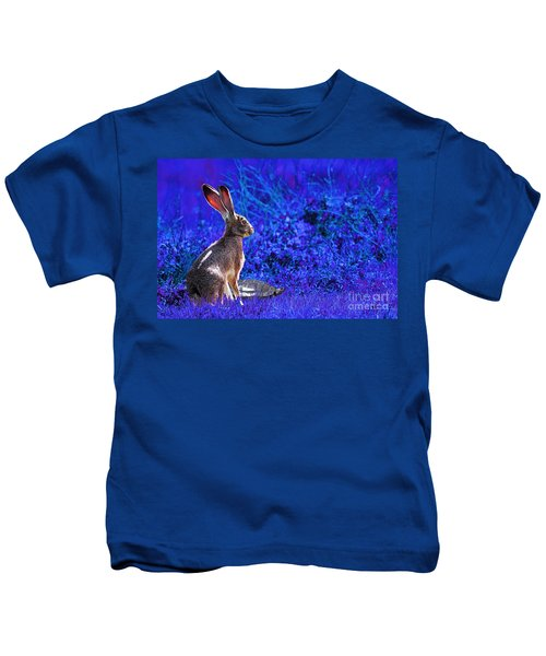 The Tortoise And The Hare . Blue Kids T-Shirt