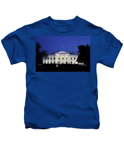 The White House At Night Kids T-Shirt